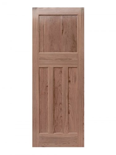 1930's Pitch Pine 4 Panel Unfinished Internal Door
