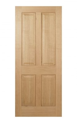 Regency Pre-Finished Oak 4 panel Internal Fire Door - Imperial Size