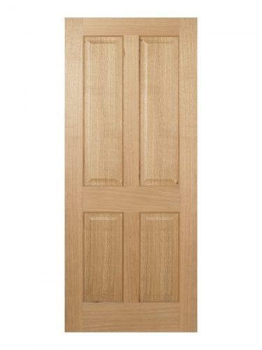 LPD Regency Pre-Finished Oak 4 panel FD30 Fire Door - Imperial Size