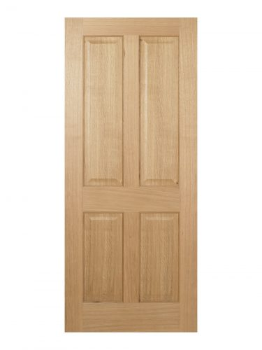 Regency Pre-Finished Oak 4 panel Internal Door - Imperial Size