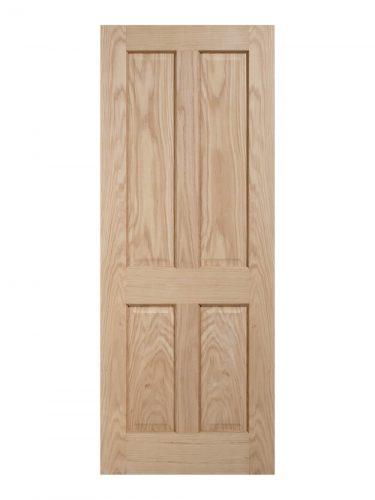 Regency Unfinished Oak 4 panel Internal Door - Metric Size