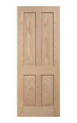 Regency Unfinished Oak 4 panel Internal Door - Imperial Size