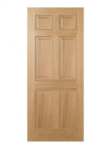 Regency Pre-Finished Oak 6 panel Internal Door - Imperial Size