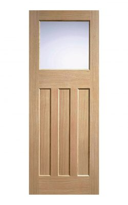 LPD 1930's Oak 4 Panel Internal Glazed DoorLPD 1930's Oak 4 Panel Internal Glazed Door