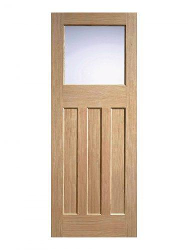 LPD 1930's Oak 4 Panel Internal Glazed Door