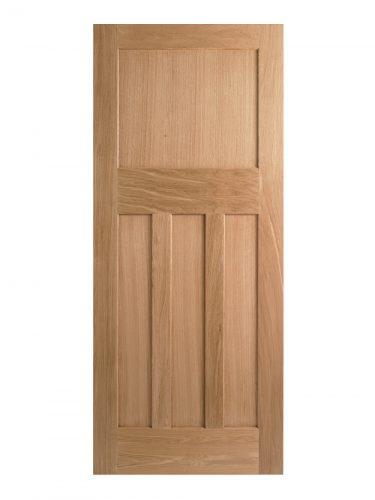 1930's Oak 4 Panel Shaker Style Internal Fire Door