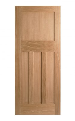 1930's Oak 4 Panel Shaker Style Internal Door