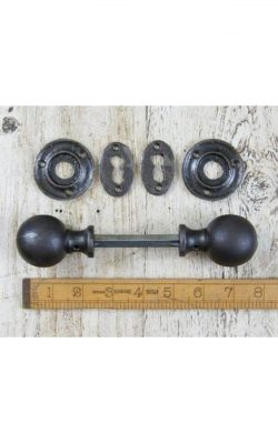"Round Ball Cast Iron Door Knob 2""/50mm diam"