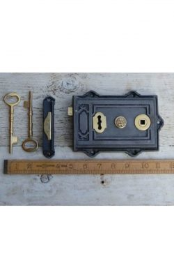 Davenport Rim Lock Steel and Brass