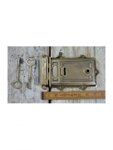 "Davenport Rim Lock Solid Brass 7""/5"""