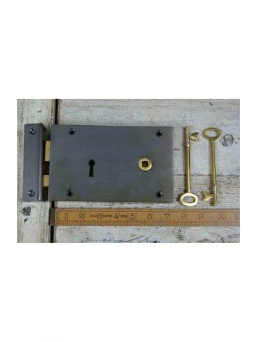 "Right Hand Rim Lock with Brass Key 7""/5"""