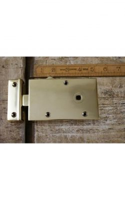 "Left Hand Solid Brass Rim Latch 5""/3"""