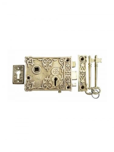 Ornate Solid Brass Rim Locks - Left and Right