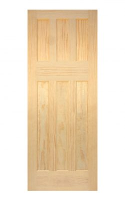 1930's Clear Pine 6 panel Internal Door