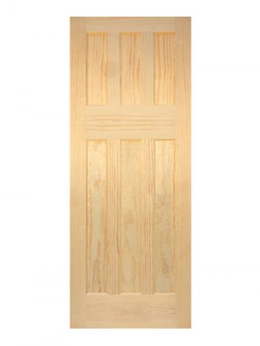 1930's Clear Pine 6 Panel Painted Internal Door