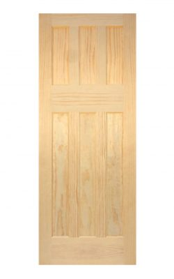 1930's Clear Pine 6 Panel Primed Internal Door
