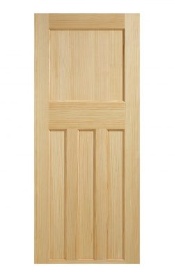 1930's Clear Pine 4 Panel Internal Fire Door