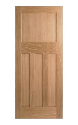 1930's Oak 4 Panel Unfinished Internal Fire Door