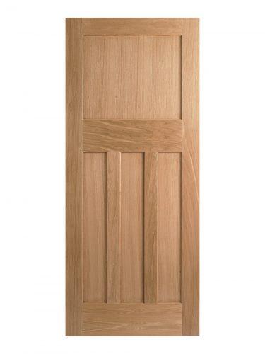 1930's Oak 4 Panel Painted Internal Door
