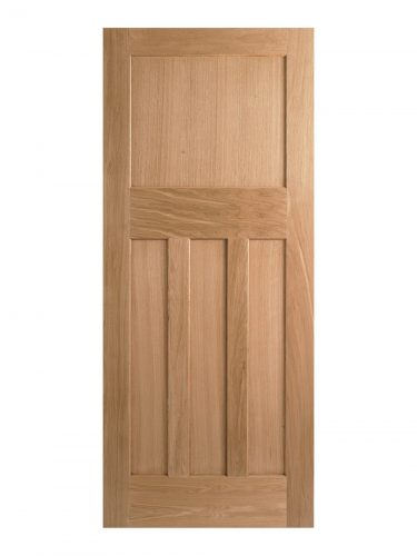 1930's Oak 4 Panel Unfinished Internal Door