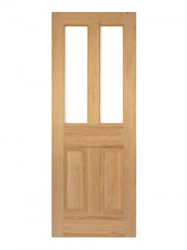 Victorian Pitch Pine Four Panel Customised Glazed Internal Door