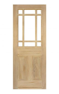 Victorian Pitch Pine Customised Glazed Vestibule Internal Door