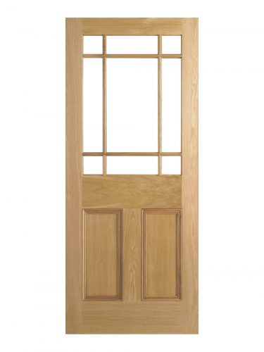 LPD Victorian Oak Downham Unglazed Vestibule Door