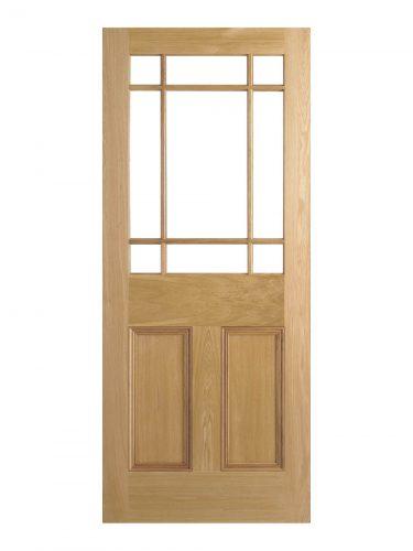 Victroian Oak Vestibule Unglazed Internal Door