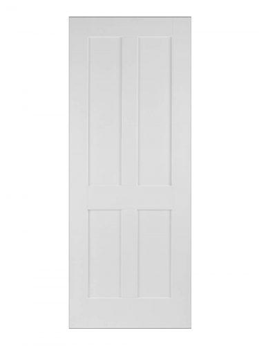 Victorian Four Panel Oak Shaker Painted Internal Fire Door