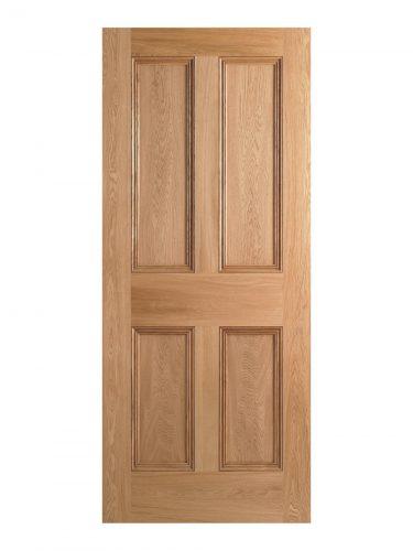 Victorian Oak Four Panel Internal Fire Door