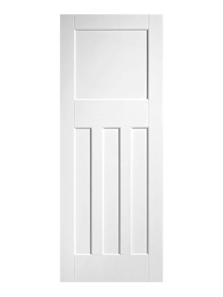 1930's Pine 4 Panel White Primed Internal Fire Door