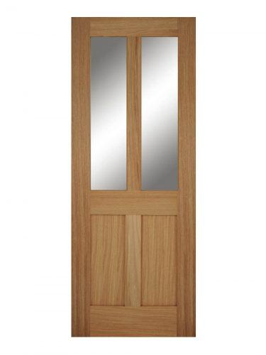 Victorian Oak Four Panel Shaker Unglazed Internal Door