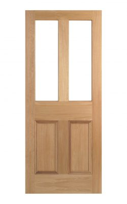 Victorian Oak Four Panel Customised Glazed Internal Door