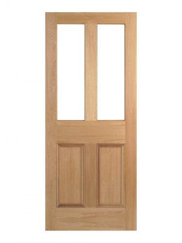 Victorian Oak Four Panel Customised Glazed Internal Door