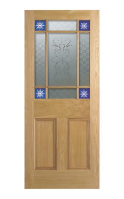 Victorian Oak Starburst Glazed Internal Door