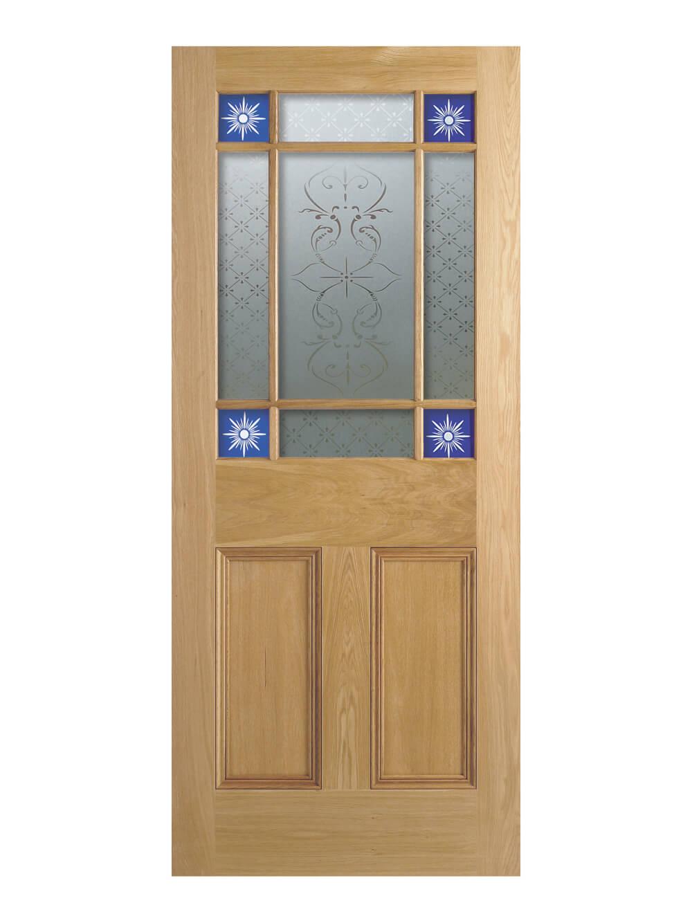 new product 47208 c3dd8 LPD Victorian Oak Downham Glazed Vestibule Door