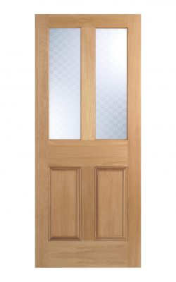 Victorian Oak Four Panel Glazed Internal Door
