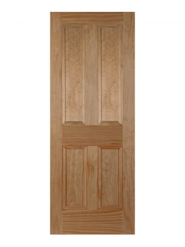 Victorian Clear Pine Four Panel Primed Internal Fire Door