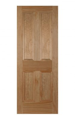 Victorian Clear Pine Four Panel Painted Internal Fire Door
