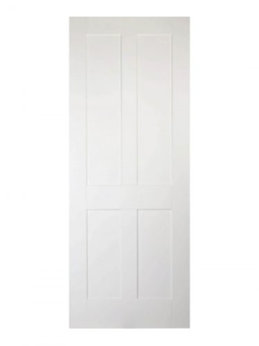 Victorian Shaker Four Panel White Primed Internal Fire Door