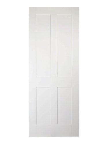 Victorian Shaker Four Panel White Primed Internal Door