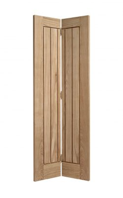 Pre-finished Oak Mexicano Bi-fold - Imperial Size Internal Door