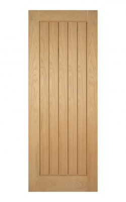 Unfinished Oak Mexicano Internal Fire Door - Metric Size