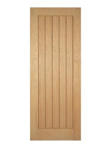 Unfinished Oak Mexicano Internal Fire Door - Metric Size
