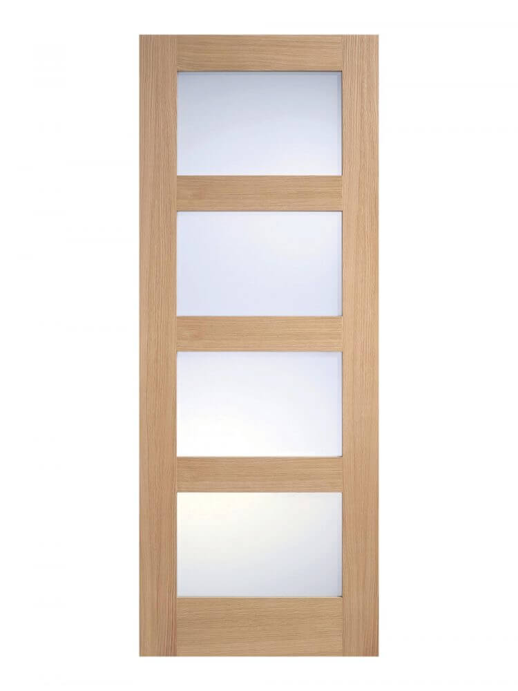 Unfinished oak frosted glazed metric for Frosted panel door