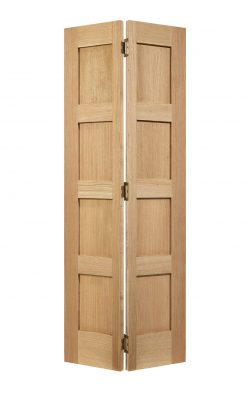 LPD Unfinished Oak Contemporary Four Panel Bi-fold Internal DoorLPD Unfinished Oak Contemporary Four Panel Bi-fold Internal Door