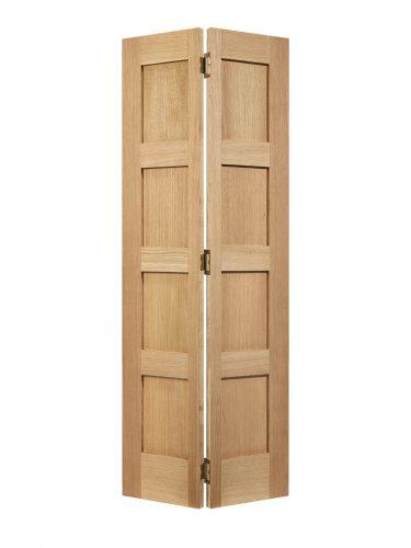 LPD Unfinished Oak Shaker Four Panel Bi-fold Internal Door