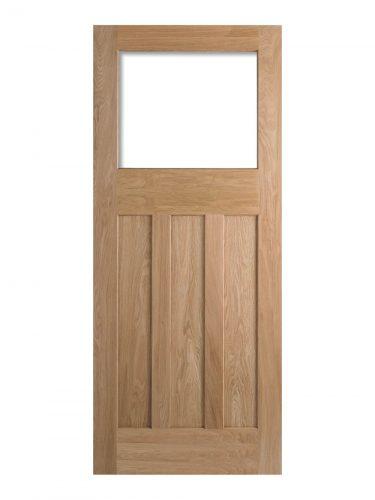 1930's Oak 4 Panel Unglazed Internal Door