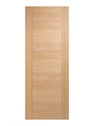 Pre-Finished Oak Vancouver 5 panel Internal Fire Door - Imperial Size