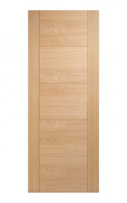 Pre-Finished Oak Vancouver 5 panel Internal Door - Imperial Size